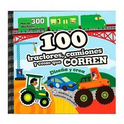 100 tractores, camiones y cosas que corren