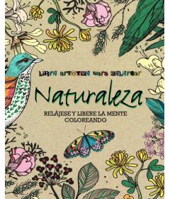 Libro artistico para colorear Naturaleza